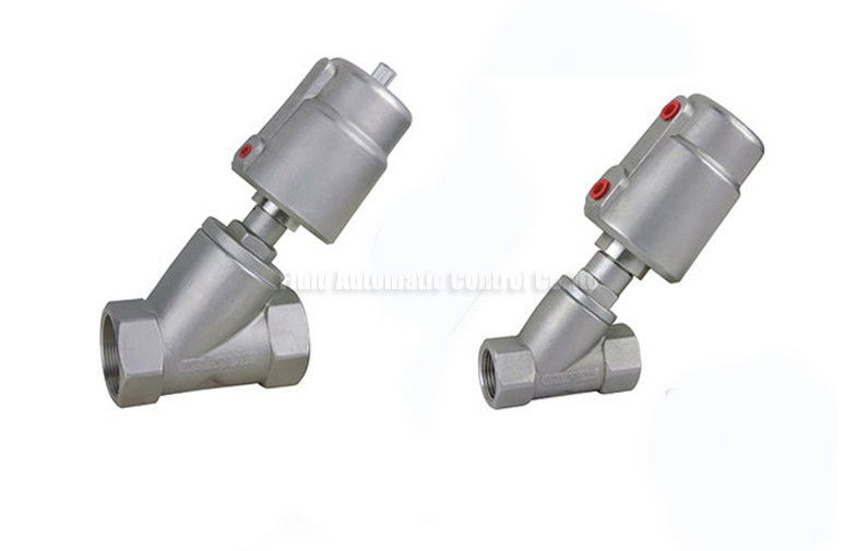 DN10~DN80 Stainless Steel Piston Angle Seat Valve With Stainless Steel Actuator