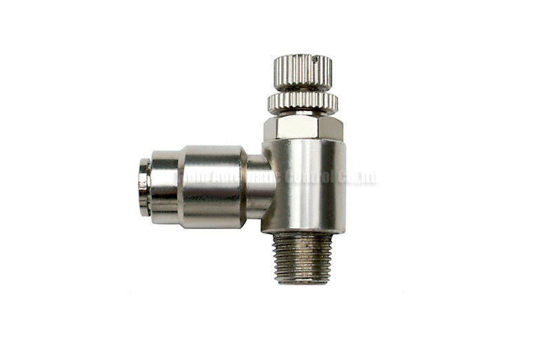 Mm brass one touch push in fitting slot type