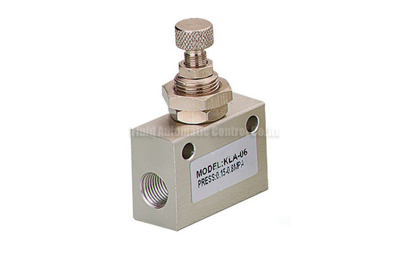 Pneumatic Flow Control Valves : One way throttle check valve g quot for air flow control