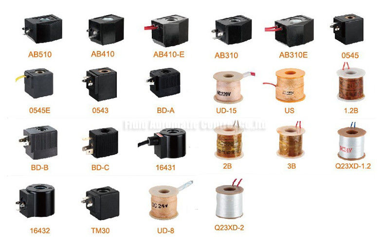 Air Solenoid Valve Coils For Two Position Two Way Water Valve DC24V AC220V