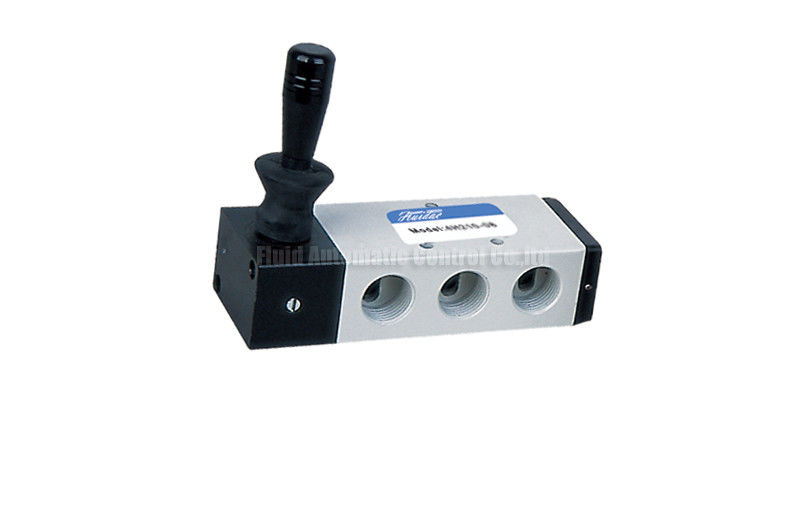 Pneumatic Lever Valve : Spring return manual directional control hand lever valve