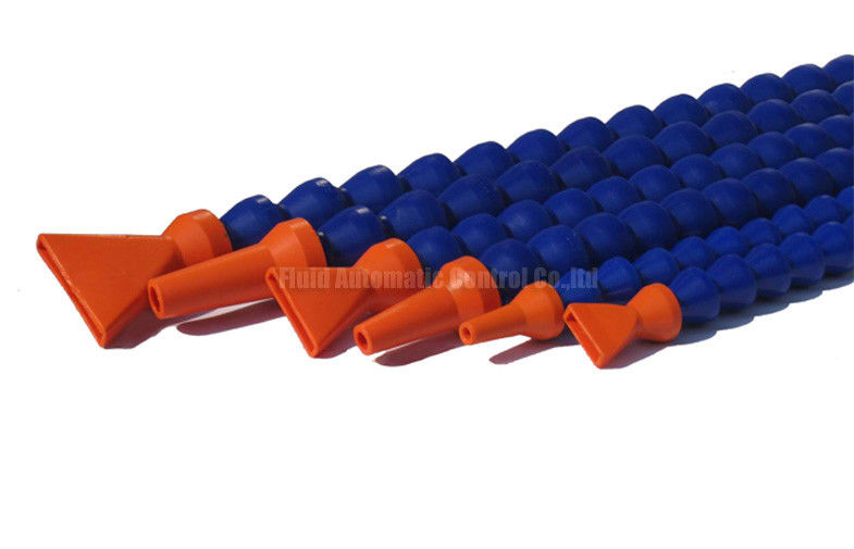 PA66 Blue Straight Flexible Ajustable Coolant Pipe For Tooling Machine Coolant System With Nozzle Changeable
