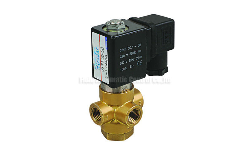 "3/2 Way Direct Acting Brass Solenoid Valve G1/8"" G1/4"" For Vacuum System"