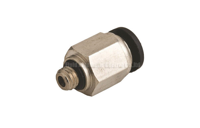 Miniature Brass Pneumatic Tube Fittings Straight / Branch Tee Type