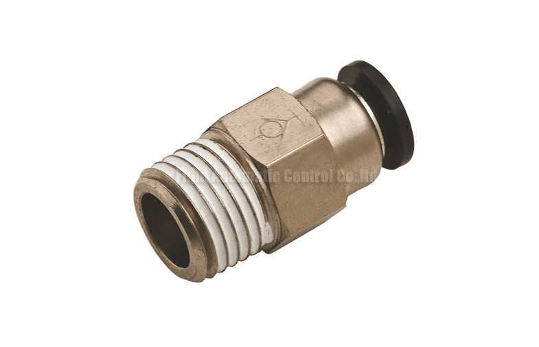 Brass nickle plated pneumatic stop fitting for