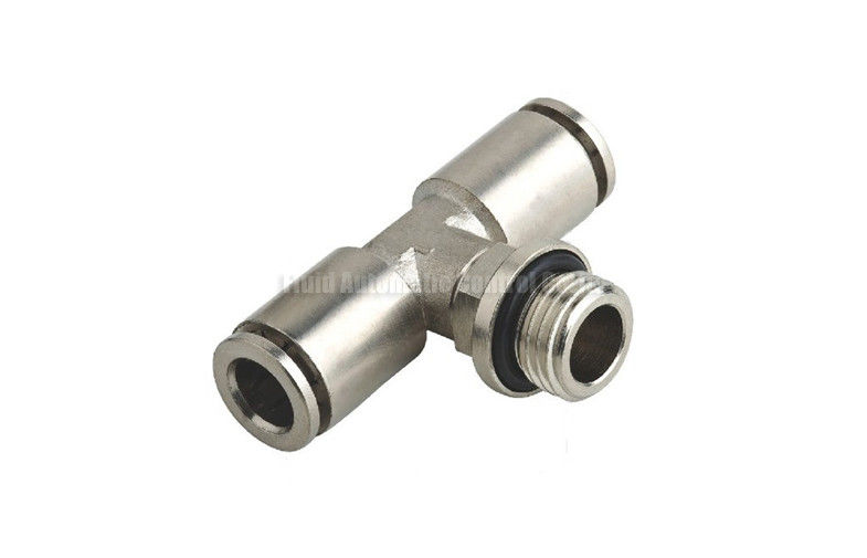 Stainless steel branch tee pneumatic tube fittings quick