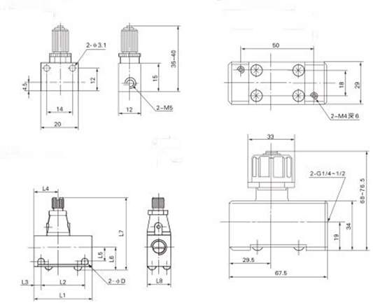 "AS SMC Type One Way Pneumatic Flow Control Valve , 1670L/min G1/4"" Throttle Check Valve"