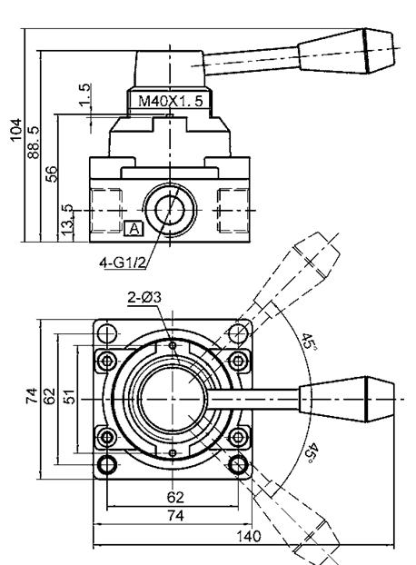 8 Manual Directional Control Valve Pneumatic Hand Switching Valve