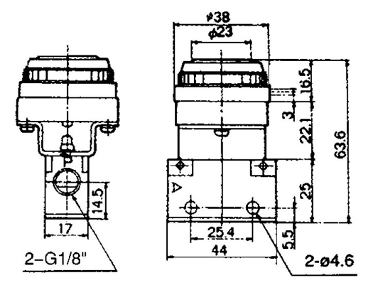 mov series two position three way pneumatic mechanical