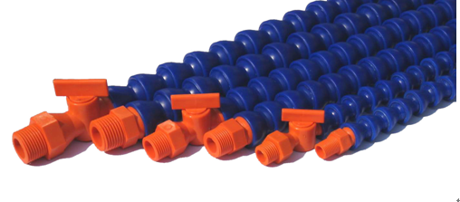 Pa66 Blue Straight Flexible Ajustable Coolant Pipe For