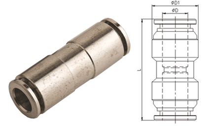 Stainless Steel Branch Tee Pneumatic Tube Fittings,Quick Push-in Fitting