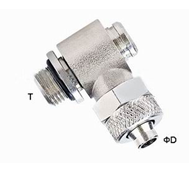 Pneumatic Tube Fittings Brass One Touch Push-on Tube Fittings Nickle Plated