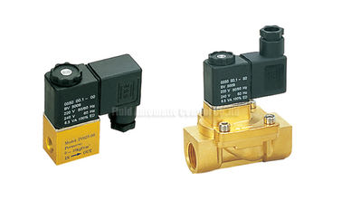 "China 2V Series Brass 2 Position 2 Way Pneumatic Solenoid Valve G1/4"",Orifice 2.5mm distributor"