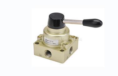 "China 3 Position 4 Way Pneumatic Manual Directional Control Hand Switching Valve G1/4""~G1/2"" distributor"