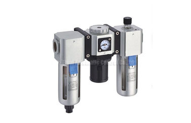 China Filter and Regulator and Lubricator Three Combination Group Air Source Treatment Unit With Gauge Embeded distributor