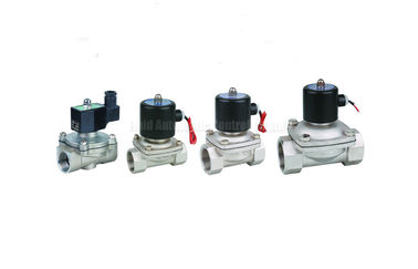 "China Stainless Steel Solenoid valve two position two way,port size G1/8""~G2"" distributor"